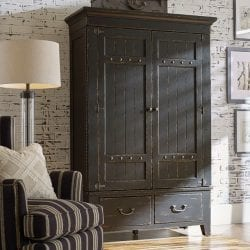 SIMMONS ARMOIRE - COMPLETE - ANVIL FINISH