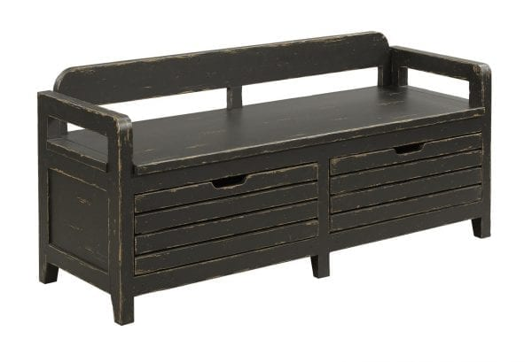 ENGOLD BED END BENCH - ANVIL FINISH