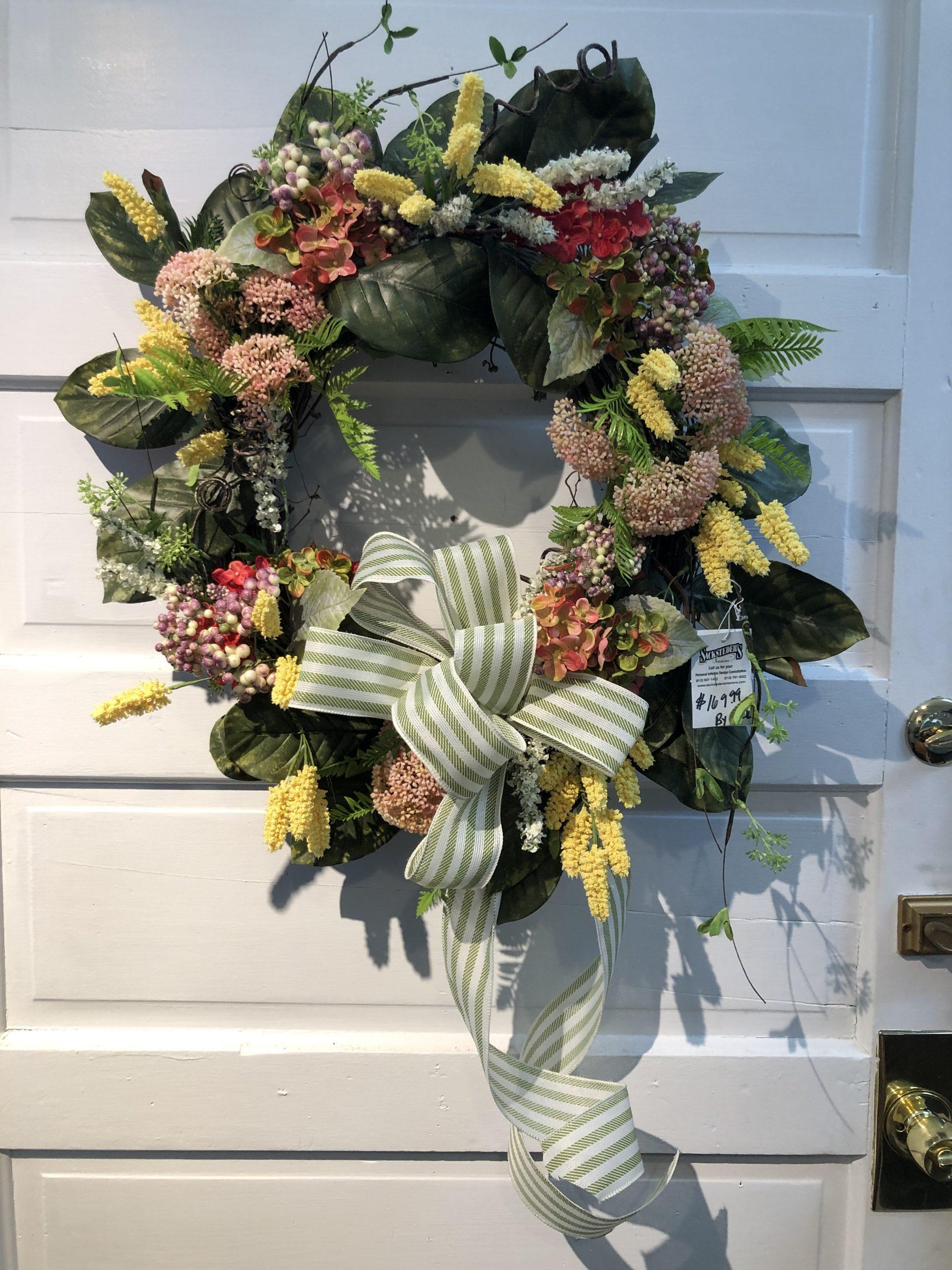 spring magnolia faux wreath