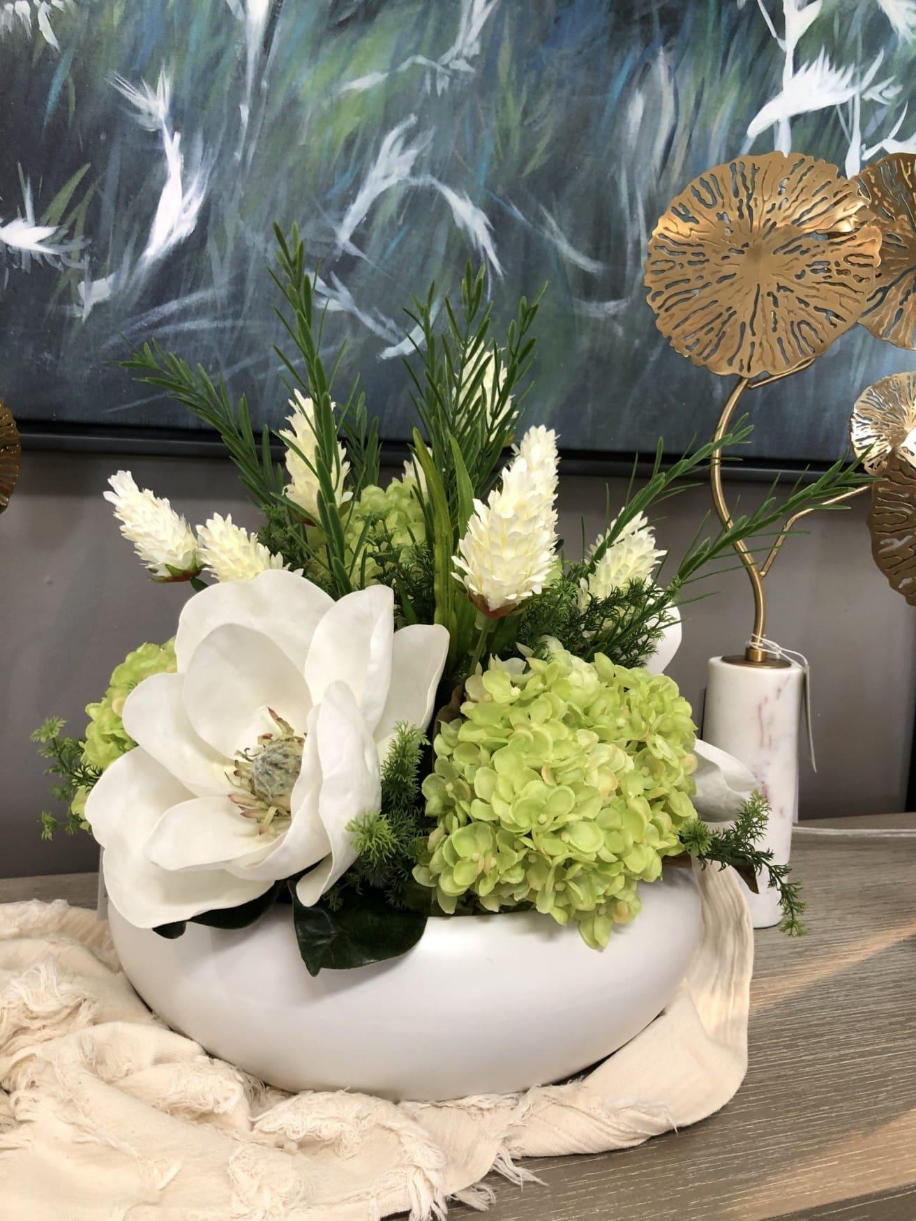 White magnolia centerpiece